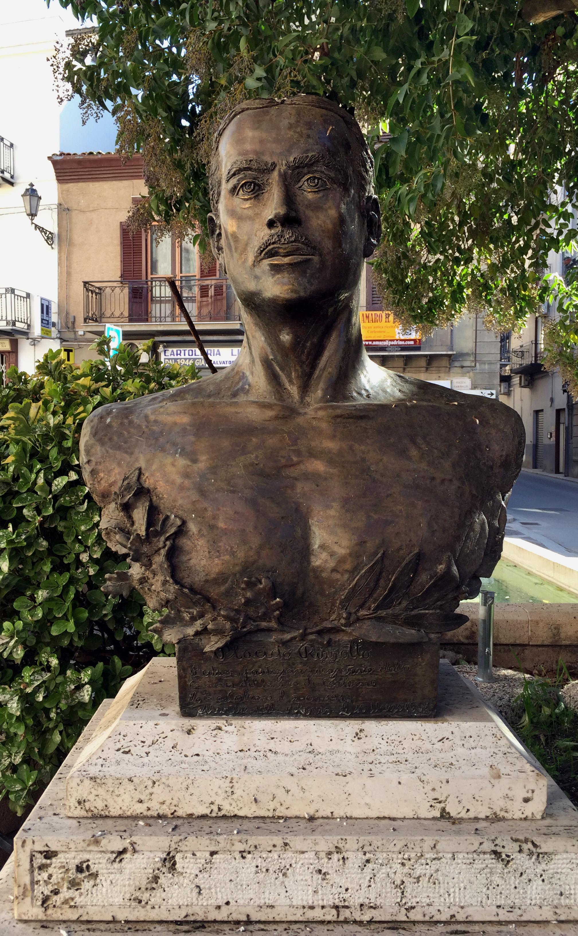 Corleone, il monumento a Placido Rizzotto